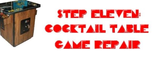 cocktail table game repair pacman